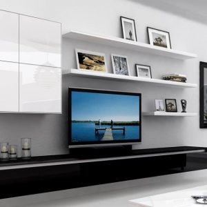 Floating Tv Stand with a book shelve
