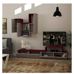 TV stand with a book shelf