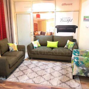 Mid century sofa plus accent chair