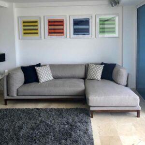 Mid grey sectional sofa