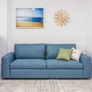 Blue Classic 3 seat Sofa